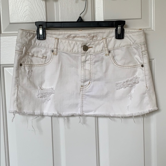 3ab26d91f American Eagle Outfitters Skirts | American Eagle Destroyed White ...